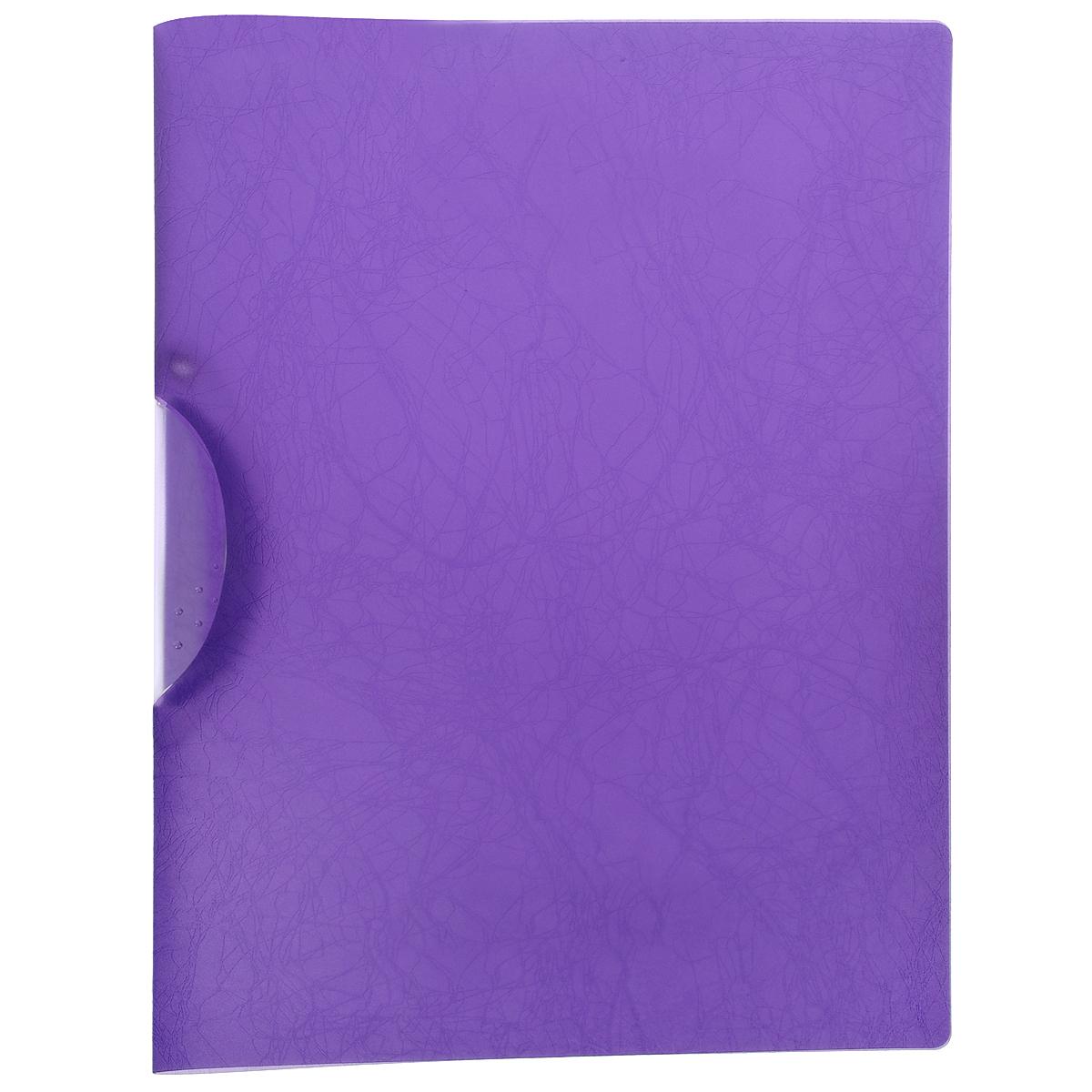 Папка с клипом Centrum Soft Touch, цвет: фиолетовый. Формат А484018ФПапка с клипом Centrum Soft Touch станет вашим верным помощником дома и в офисе. Это удобный и функциональный инструмент, предназначенный для хранения и транспортировки рабочих бумаг и документов формата А4. Папка изготовлена из прочного высококачественного пластика, оснащена боковым клипом, позволяющим фиксировать неперфорированные листы. Уголки имеют закругленную форму, что предотвращает их загибание и помогает надолго сохранить опрятный вид обложки. Папка оформлена тиснением под кожу. Папка - это незаменимый атрибут для любого студента, школьника или офисного работника. Такая папка надежно сохранит ваши бумаги и сбережет их от повреждений, пыли и влаги.