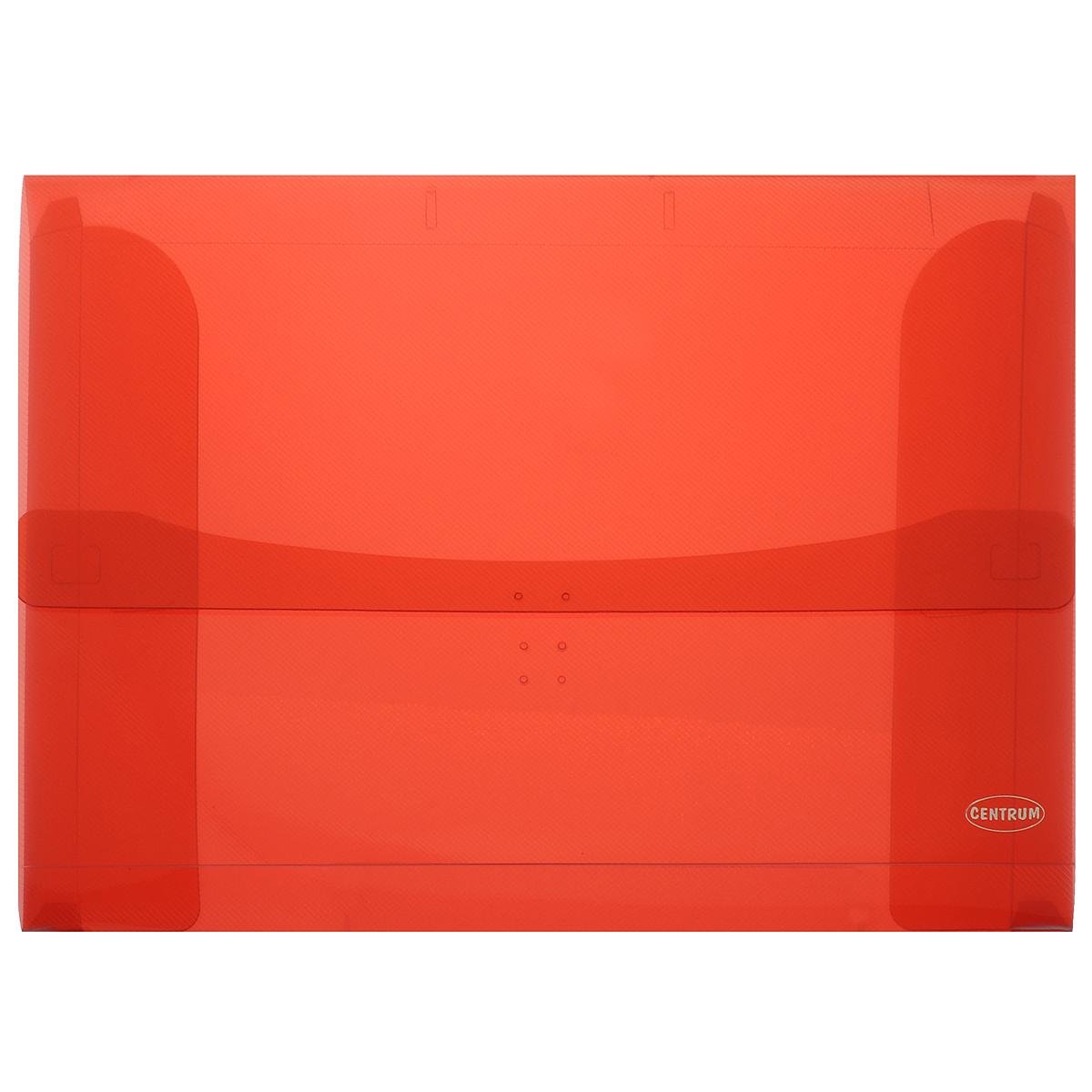 Папка-конверт Centrum, цвет: красный. Формат А3