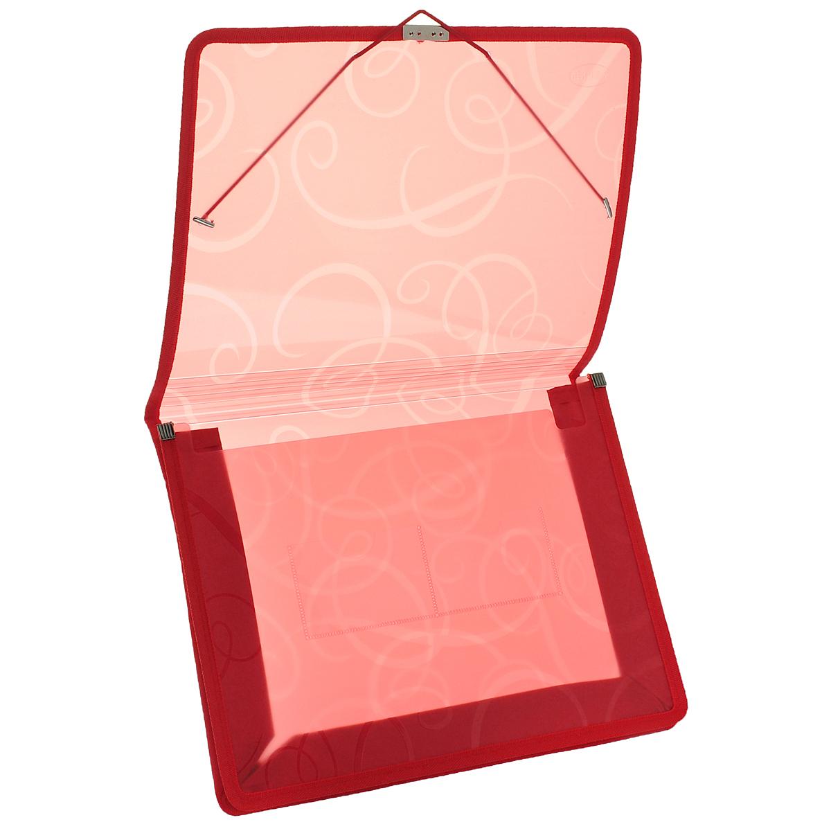 CentrumПапка-конверт на резинке цвет красный 80802К Centrum