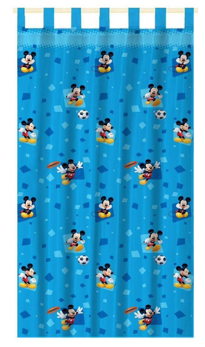 Штора интерьерная Disney Микки Маус, на петлях, высота 280 см корзина для игрушек disney микки маус и его друзья 2732136