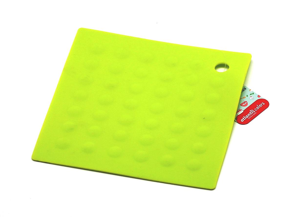 """Подставка под горячее """"Atlantis"""", квадратная, цвет: зеленый, 17,5 х 17,5 см. SC-MT-007-G"""
