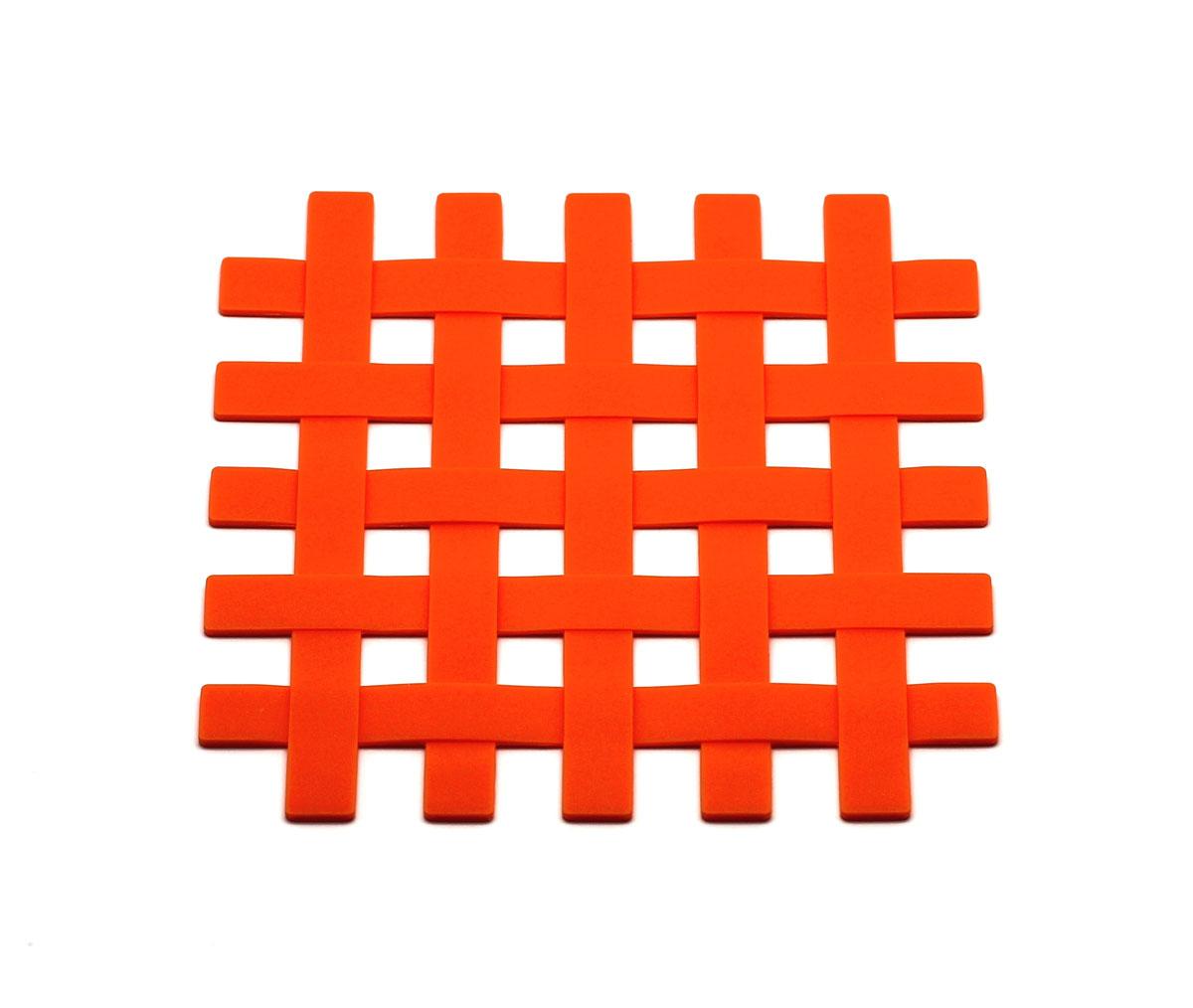 """Подставка под горячее Atlantis """"Решетка"""", цвет: оранжевый, 17,5 х 17,5 см. SC-MT-012-O"""