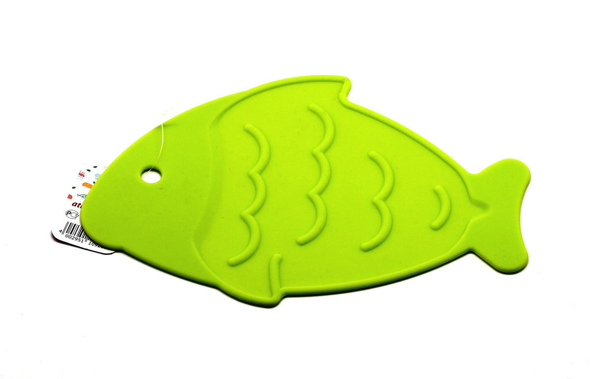 "Подставка под горячее Atlantis ""Рыба"", цвет: салатовый, 26 х 17 см. SC-MT-013-G"