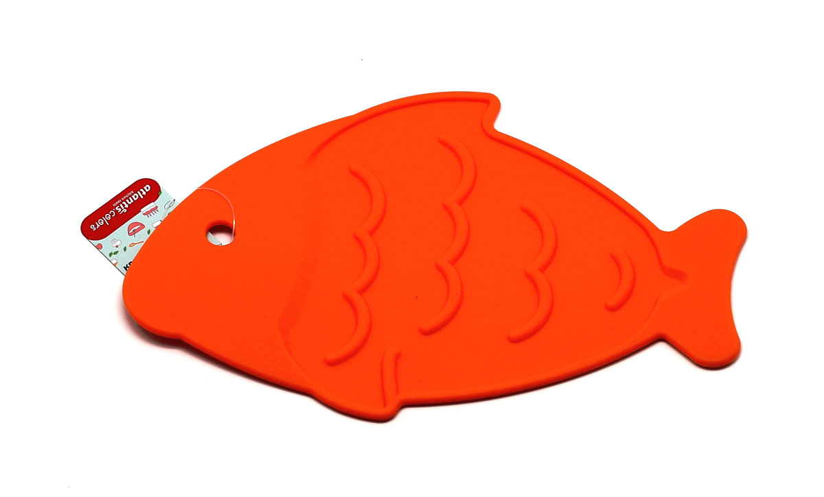 "Подставка под горячее Atlantis ""Рыба"", цвет: оранжевый, 26 х 17 см. SC-MT-013-O"