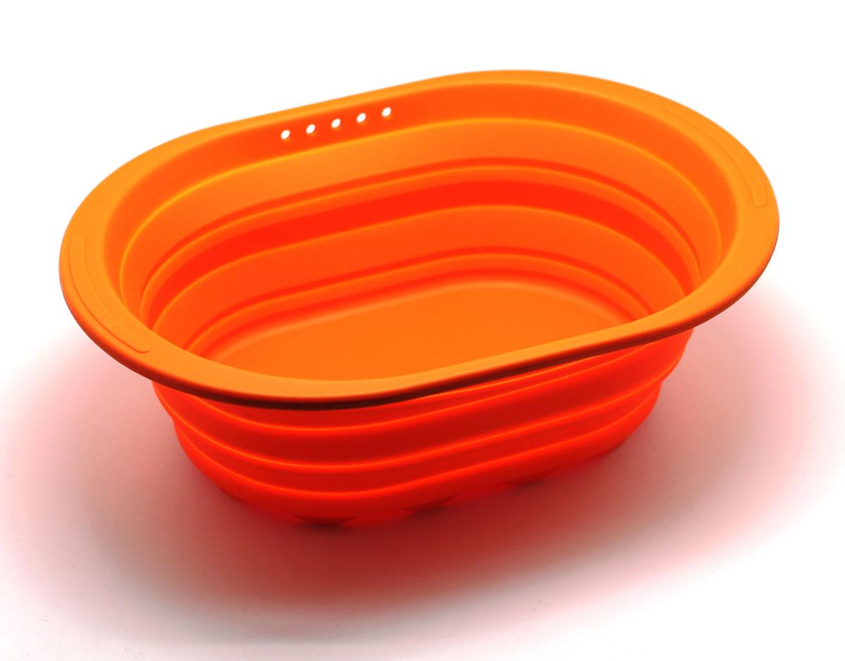 Контейнер складаной Atlantis, цвет: оранжевый, 38 х 27 х 2,7 см. SC-SB-017-O кухонная принадлежность atlantis vs2r 32 контейнер