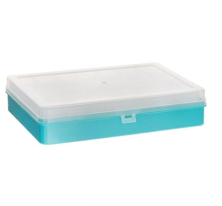 "Коробка для мелочей ""Trivol"", двухъярусная, цвет: в ассортименте, 23,5 см х 15 см х 5 см"