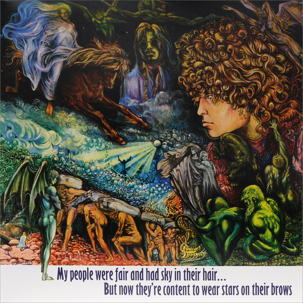 T. Rex Tyrannosaurus Rex. My People Were Fair And Had Sky In Their Hair... But Now They're Content To Wear Stars On Their Brows (2 LP) t rex t rex unicorn 2 lp