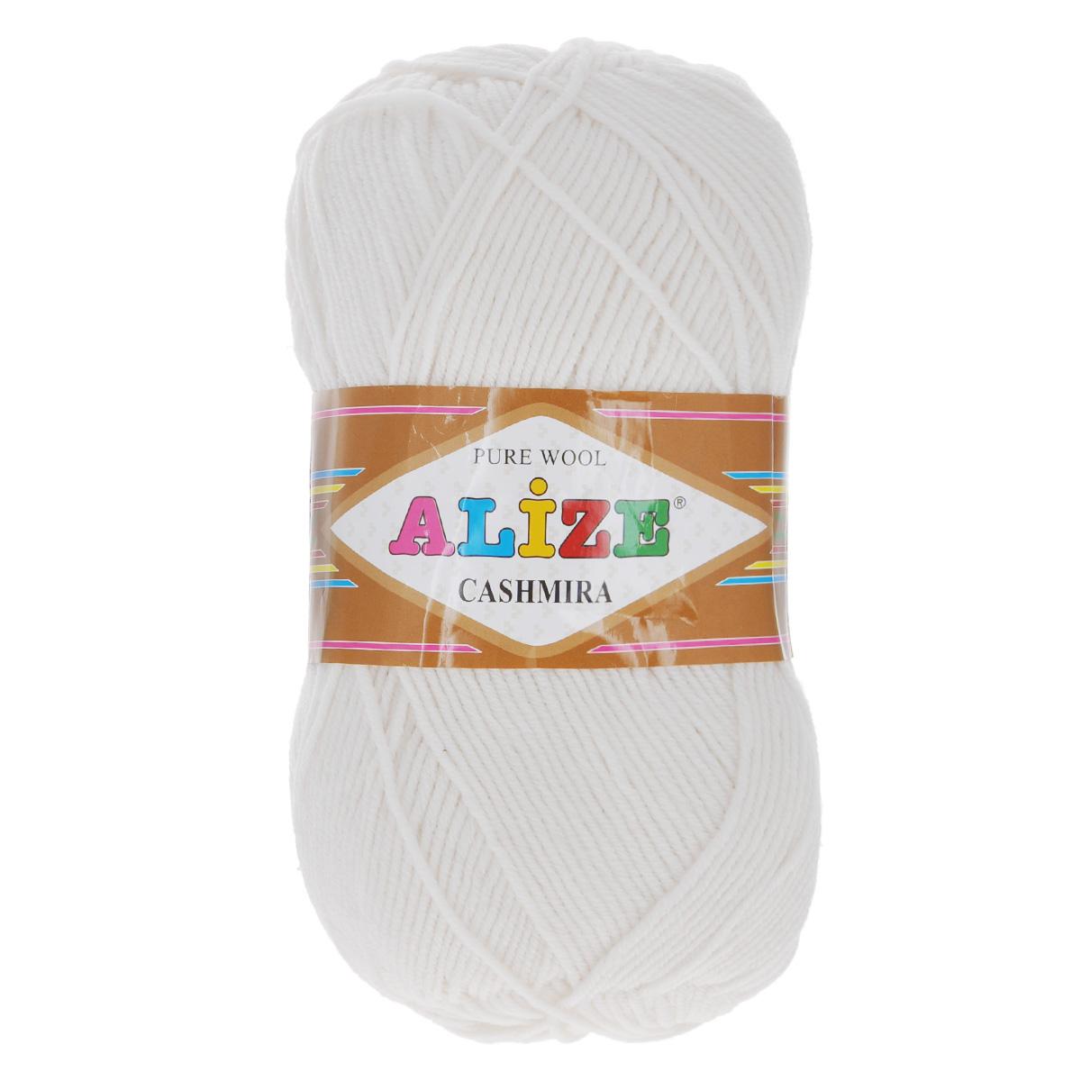 Пряжа для вязания Alize Cashmira, цвет: белый (55), 300 м, 100 г, 5 шт цена