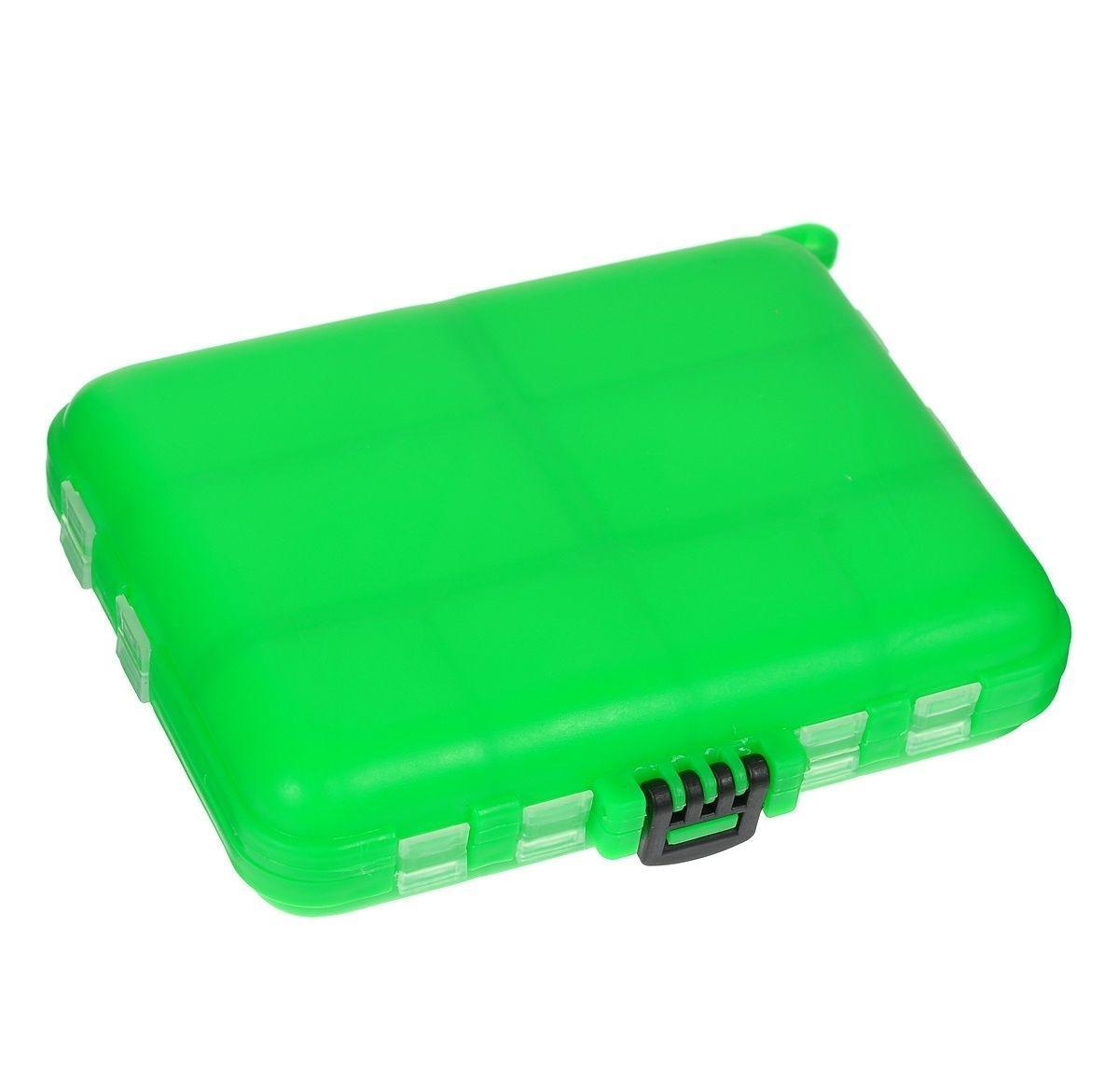 Органайзер для мелочей,, двухсторонний, цвет: зеленый, серый, 12 см х 10 см х 2,5 см коробка для приманок три кита сч 5