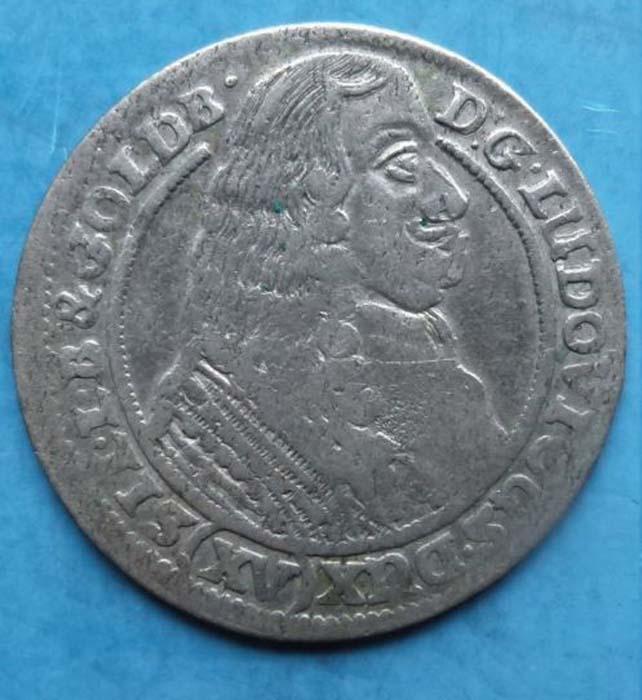 Монета 15 крейцеров, 1663 год. Силезия-Лигниц-Бриг (Польша-Германия), Людвиг IV