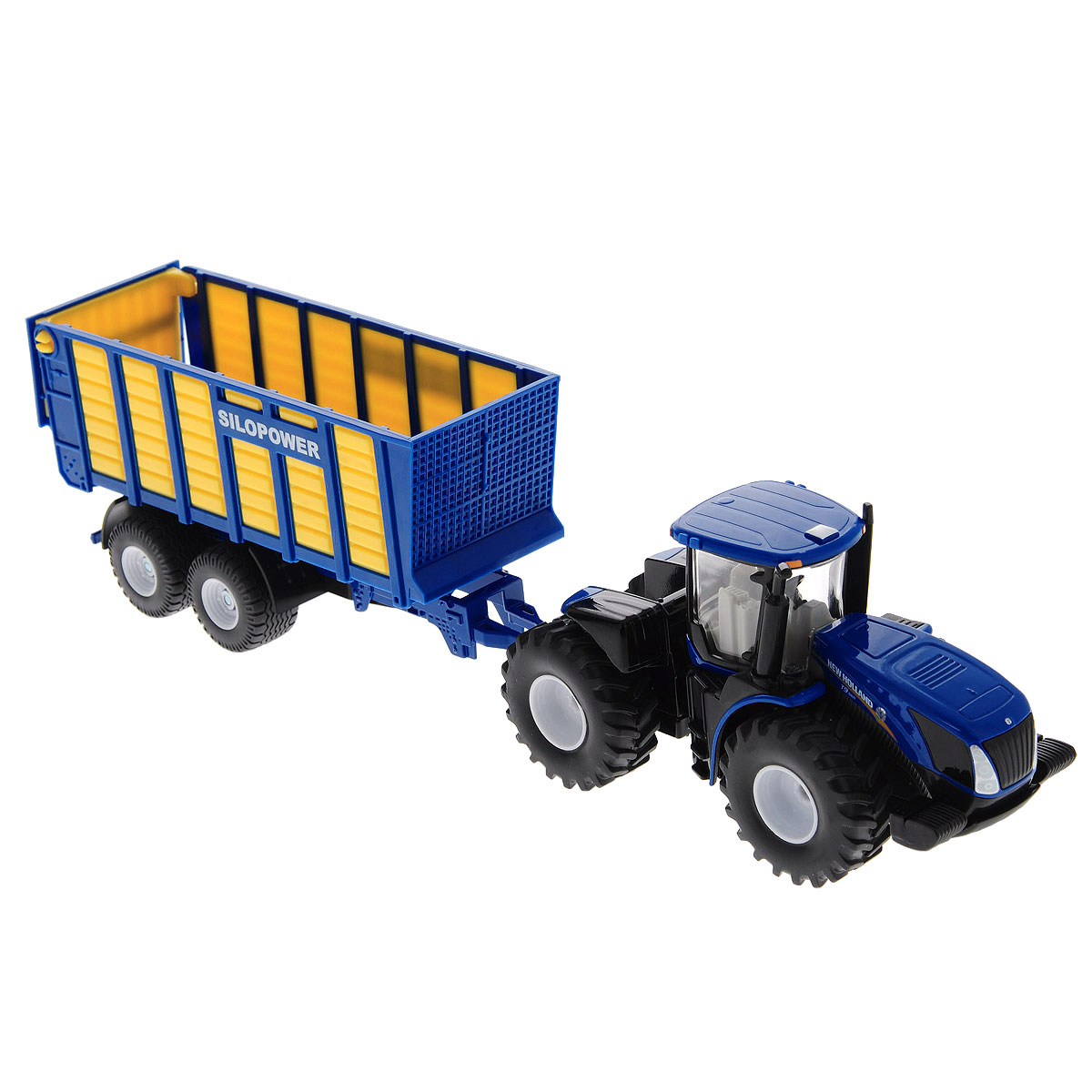 Siku Трактор New Holland T с прицепом модель трактора siku модель трактора с прицепом для бревен 1645