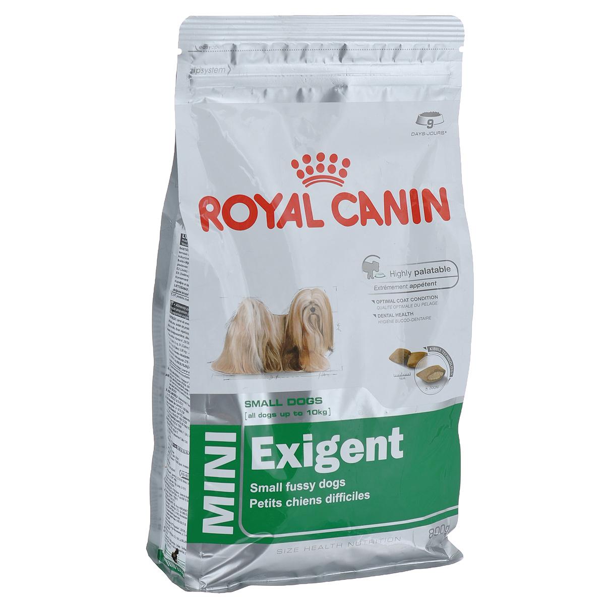 """Корм сухой Royal Canin """"Mini Exigent"""", для собак мелких пород, привередливых в питании, 800 г"""