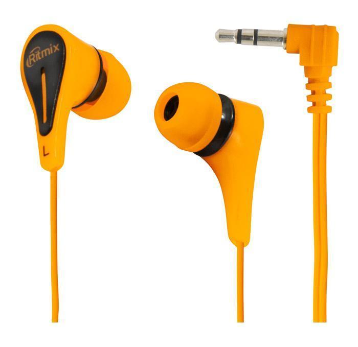 Ritmix RH-012, Orange наушники ritmix rh 100