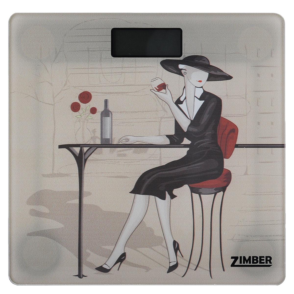"""Весы напольные электронные """"Zimber"""", цвет: бежевый"""