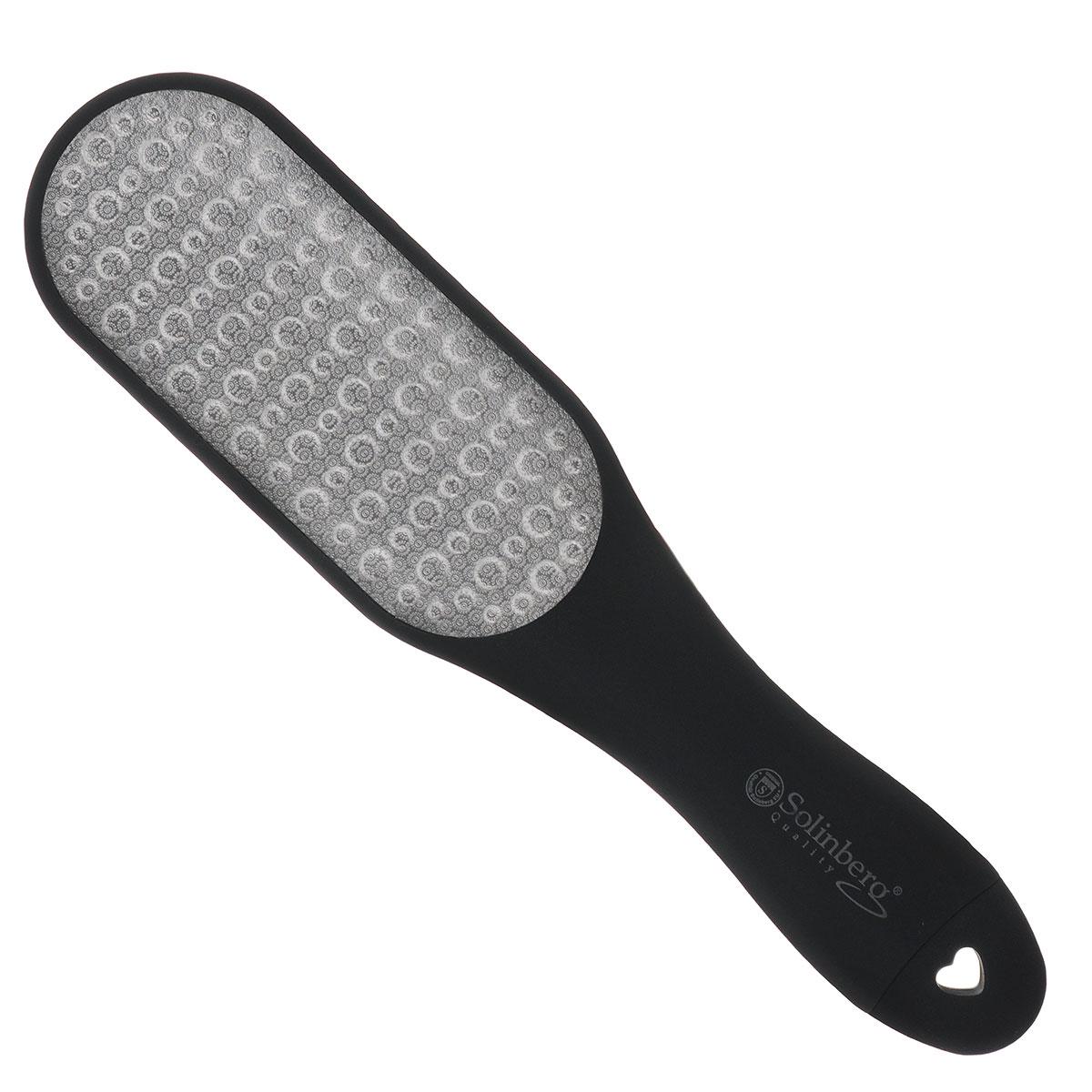 Solinberg Терка для обработки мозолей и огрубевшей кожи ног GD-4240DS, двусторонняя терка для ног деревянная основа двухсторонняя solinberg ширина 60 мм