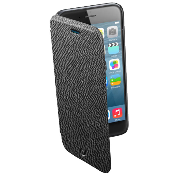 цена на Cellular Line Book Color чехол для iPhone 6, Black (21835)