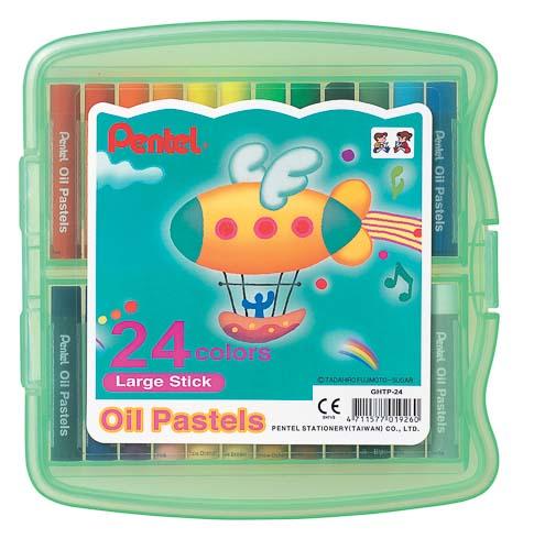 Пастель масляная Pentel  Oil Pastels , в цветном боксе, 24 цвета