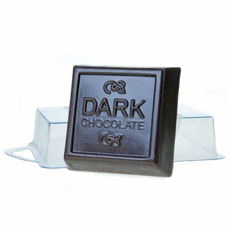 Форма для литья Темный шоколад, пластиковая, 7 х 7 х 2,5 см форма для литья танк пластиковая 16 х 11 х 2 5 см