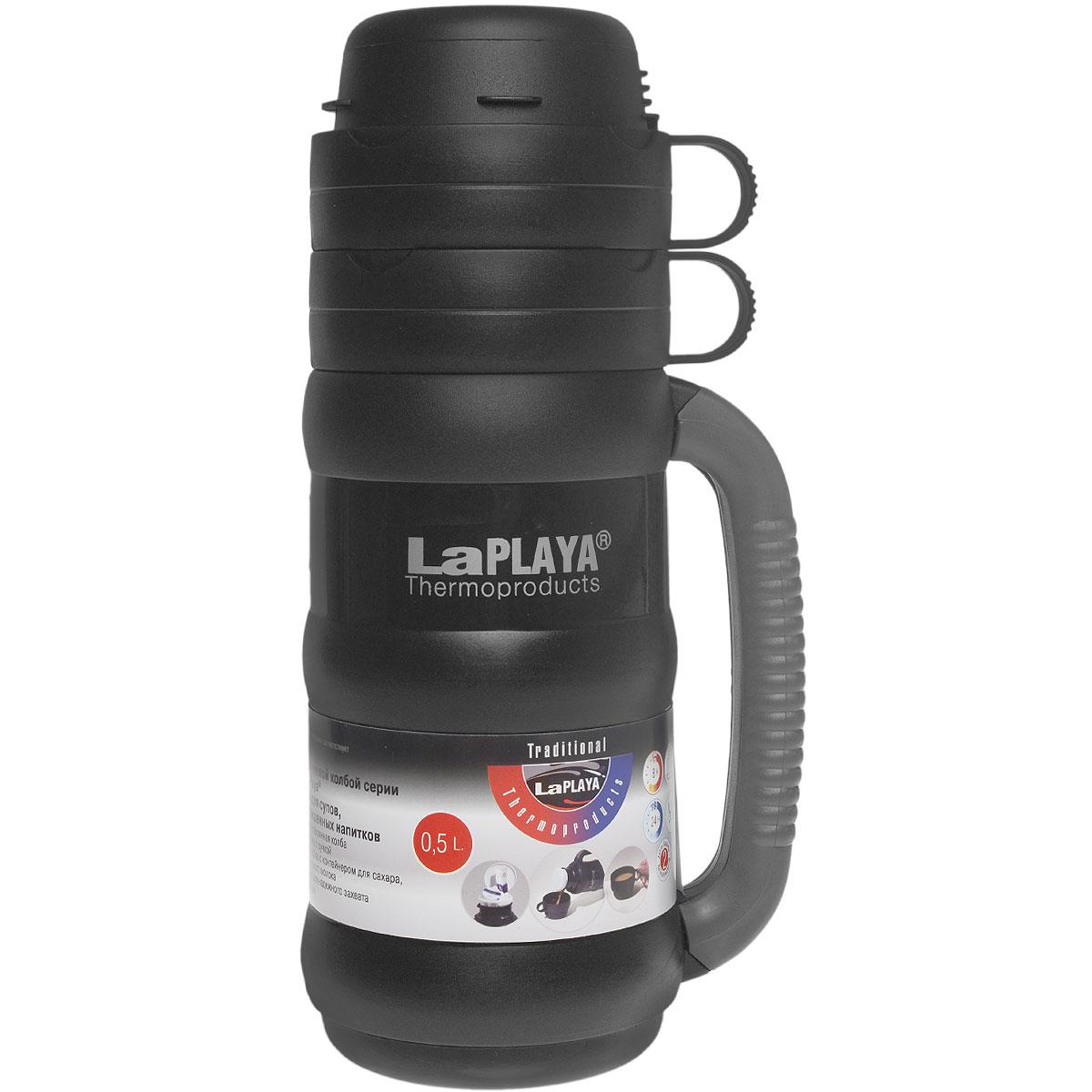 """Термос LaPlaya """"Traditional 35"""", цвет: черный, 500 мл"""