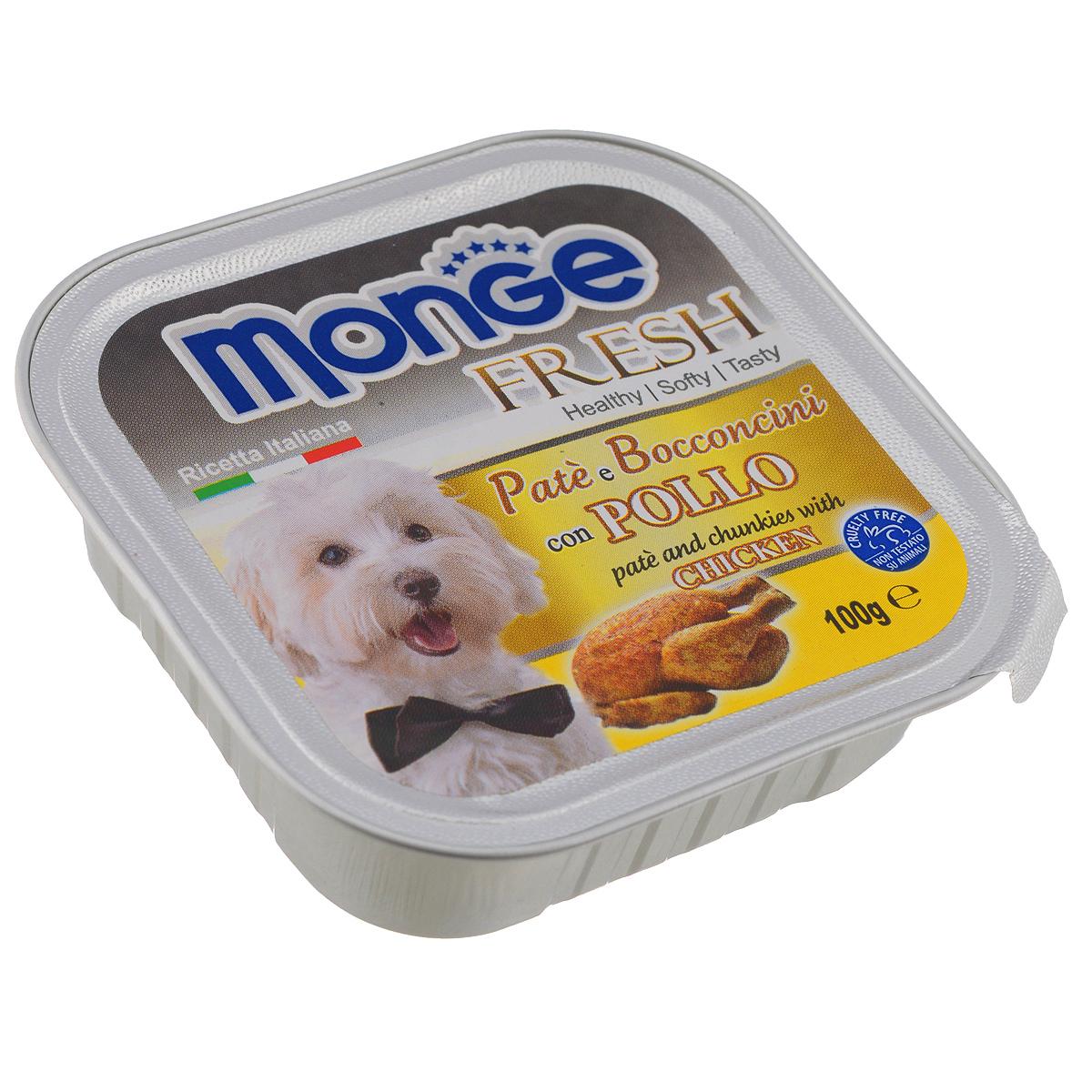 """Консервы для собак Monge """"Fresh"""", с курицей, 100 г"""