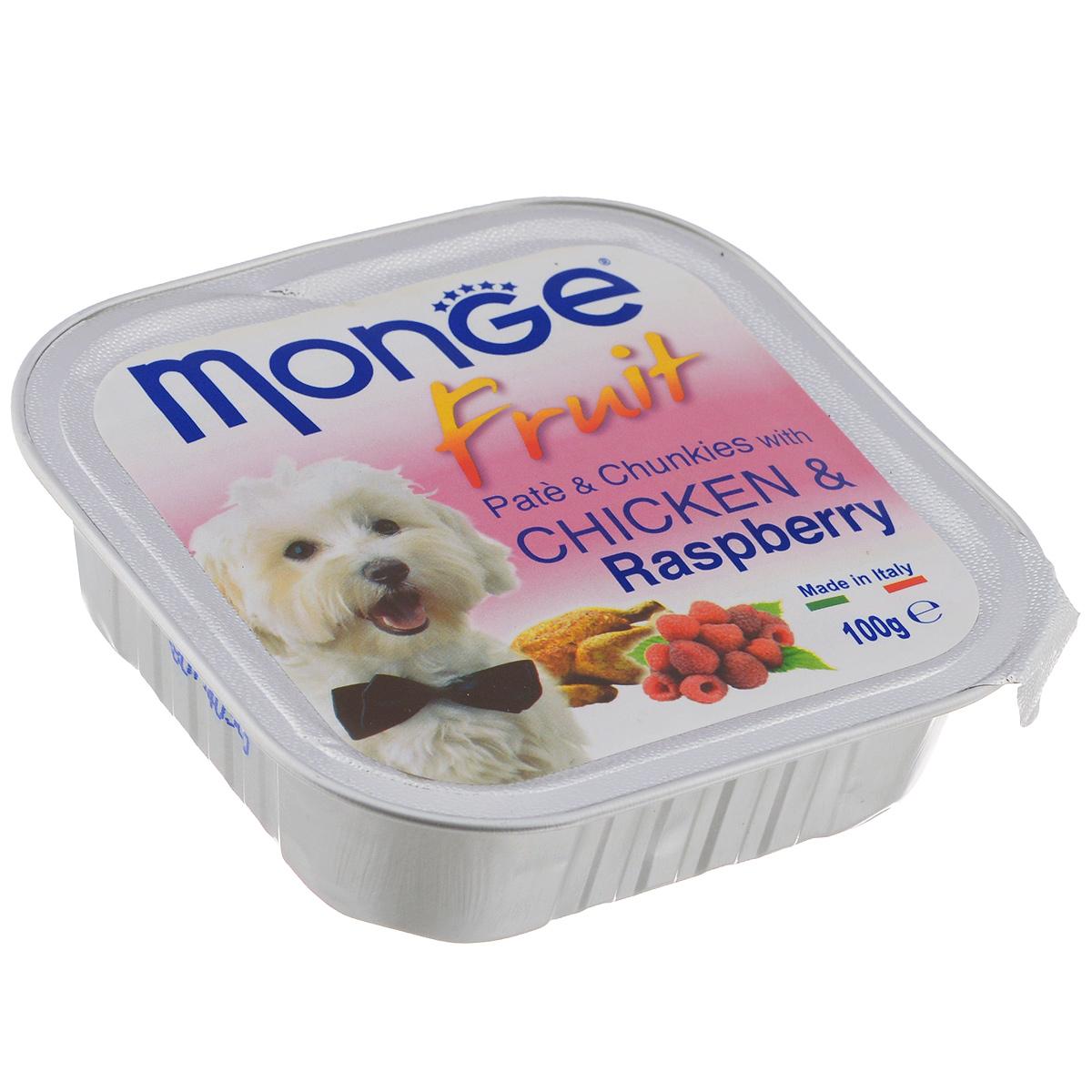 """Консервы для собак Monge """"Fruit"""", курица с малиной, 100 г"""