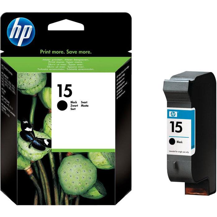 Картридж HP C6615DE 15, черный, для струйного принтера, оригинал hp c6615de