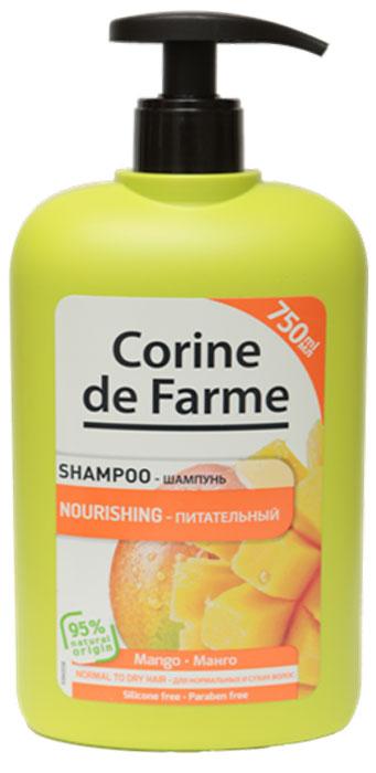 Corine De Farme Питательный шампунь с Манго, 750 мл corine de farme мой интимный уход крем гель для душа защищающий 250 мл
