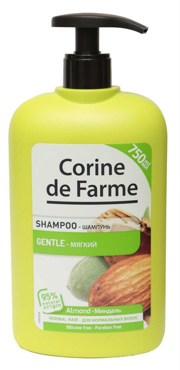 Corine De Farme Мягкий шампунь с миндалем, 750 мл corine de farme мой интимный уход крем гель для душа защищающий 250 мл