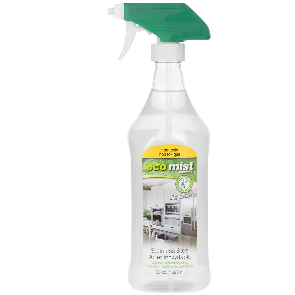 Средство для очистки поверхностей из нержавеющей стали Eco Mist, 825 мл средство для защиты обработки и смазки поверхностей из нержавеющей стали neoblank 750мл