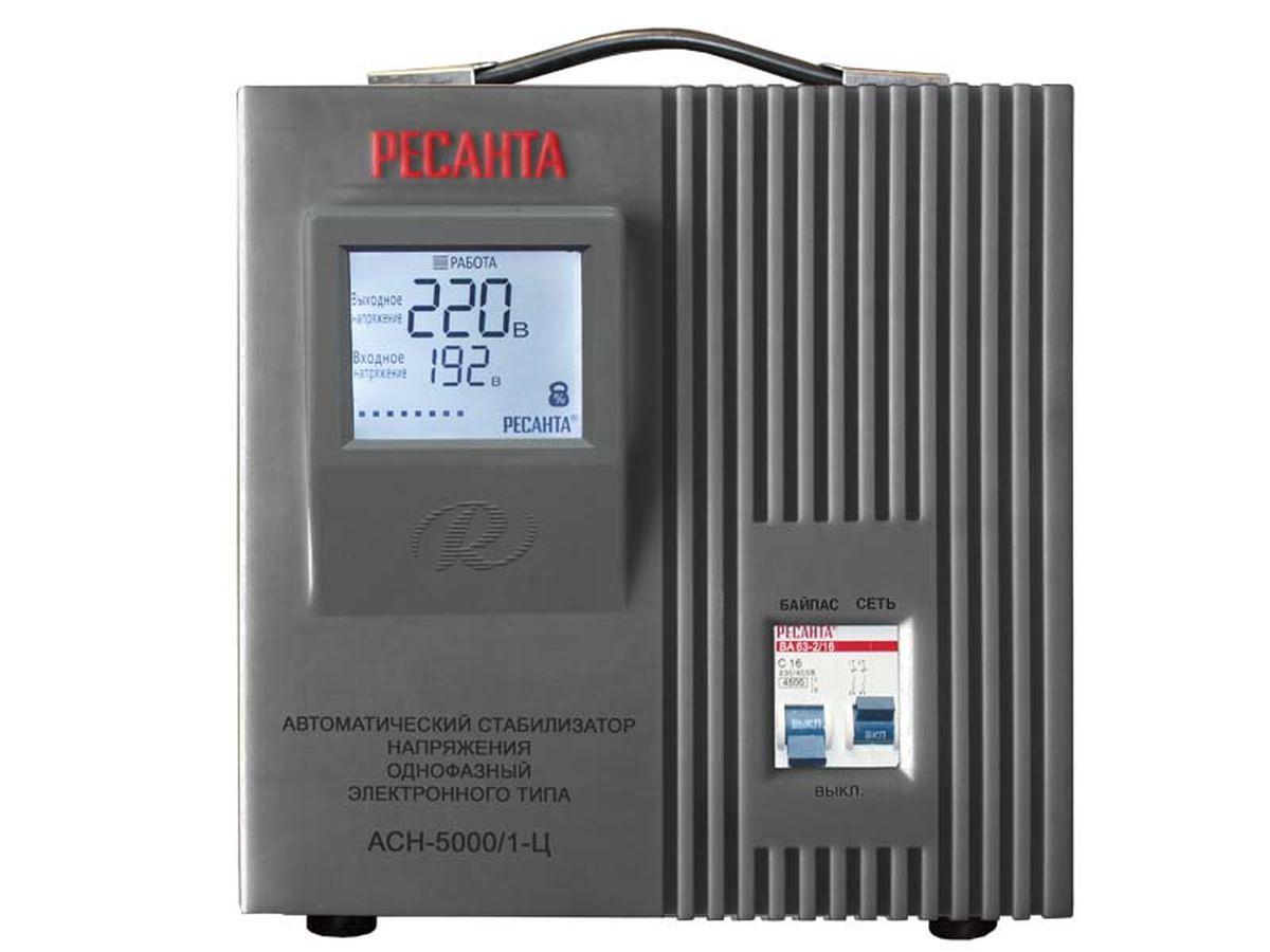 Стабилизатор напряжения Ресанта АСН-5000/1-Ц стабилизаторы напряжения