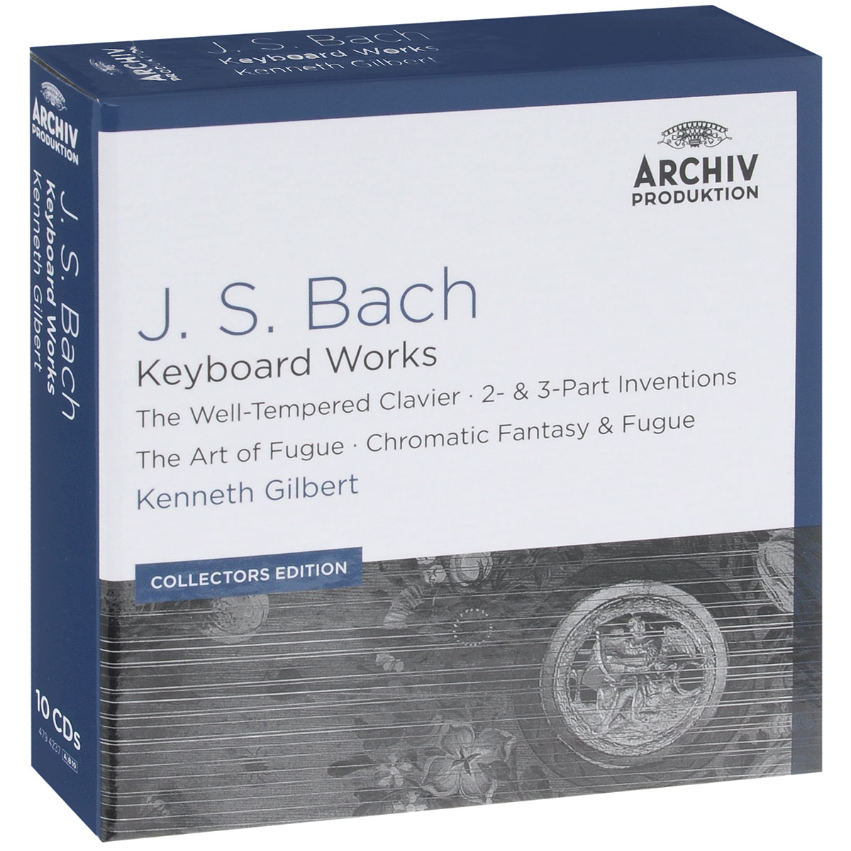 Кеннет Гилберт,Тревор Пиннок,Ларс Мортенсен,Николас Крэмер J.S. Bach. Keyboard Works. Kenneth Gilbert. Collectors Edition (10 CD) fuga короб прямоугольный 12х12х21 см 11 03 5 1 1 4 03 fuga