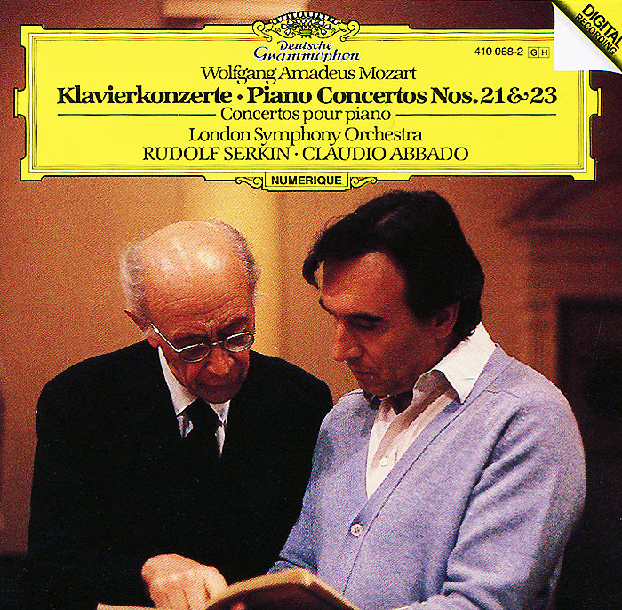 Рудольф Серкин Claudio Abbado. Rudolf Serkin. Mozart. Piano Concertos Nos. 21 & 23 цена