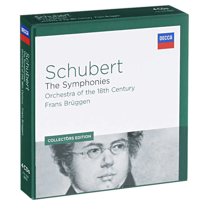 Schubert. The Symphonies. Orchestra Of The 18th Centery / Frans Bruggen. Collectors Edition (4 CD) collembola frans janssens