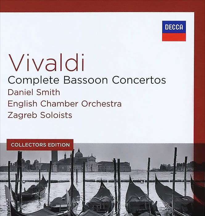 Даниэль Смит,English Chamber Orchestra,Zagreb Soloists,Филип Лейджер,Tonko Ninic Vivaldi. Complete Bassoon Concertos. Daniel Smith / English Chamber Orchestra / Zagreb Soloists. Collectors Edition (5 CD) a vivaldi violin concerto in d major rv 213