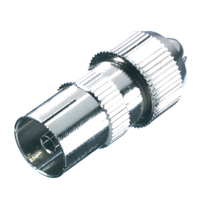 Vivanco антенный штекер коаксиальный (гнездо), металл недорого
