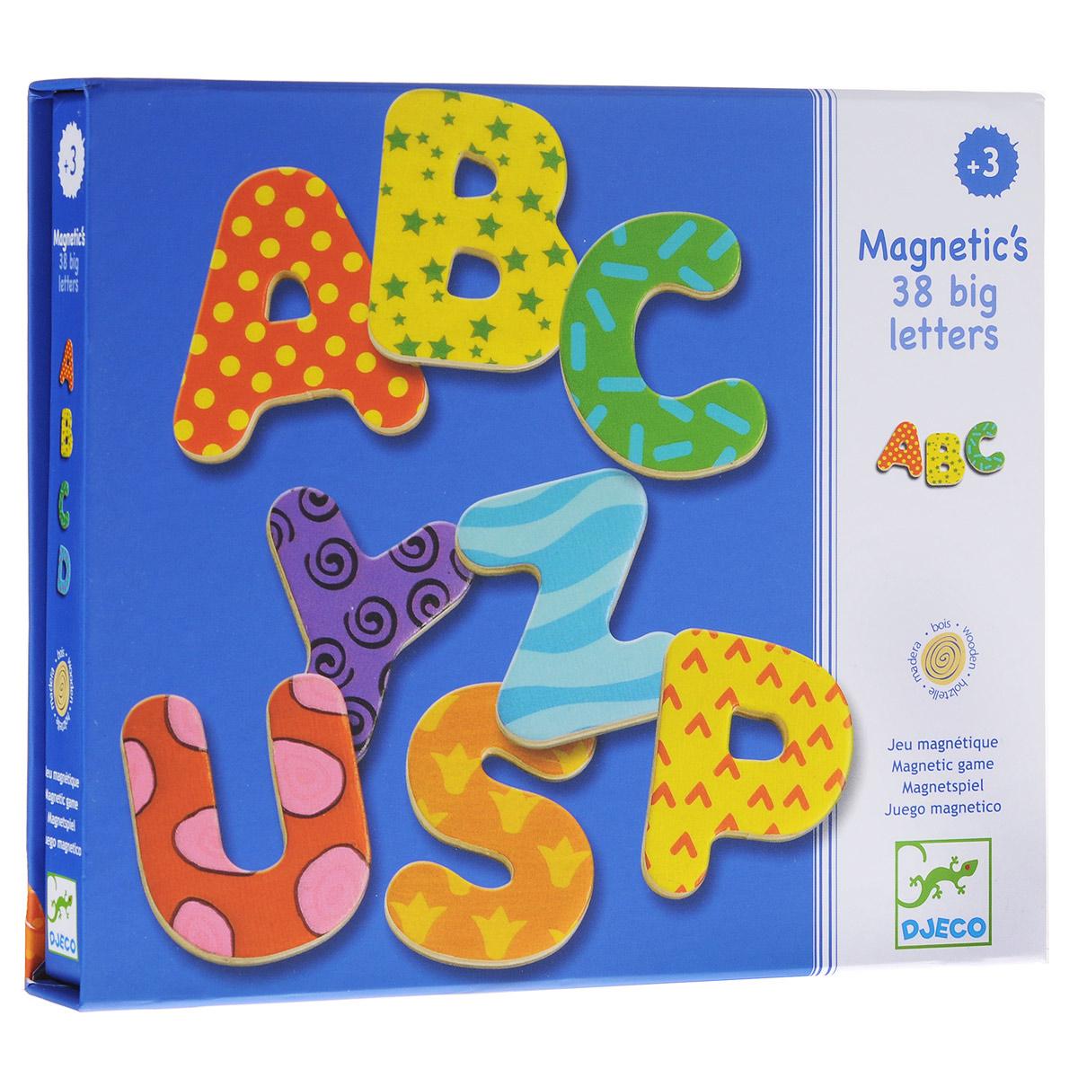 цена на Игровой набор Djeco Магнитные буквы, 38 шт