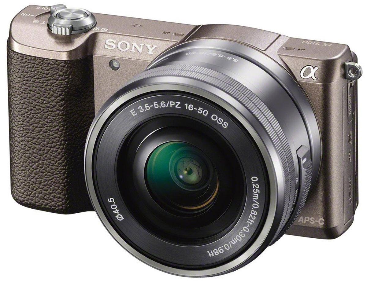 Беззеркальный фотоаппарат Sony Alpha A5100 Kit 16-50mm E PZ, Bronze