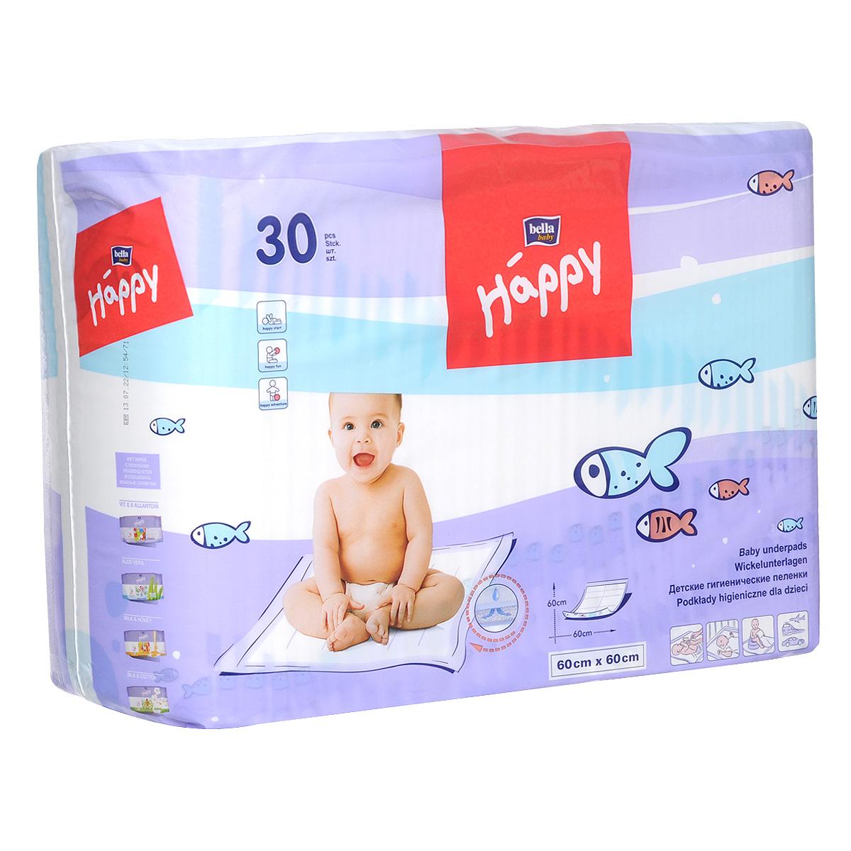 цены на Пеленка одноразовая Bella baby Happy, 30 шт.  в интернет-магазинах