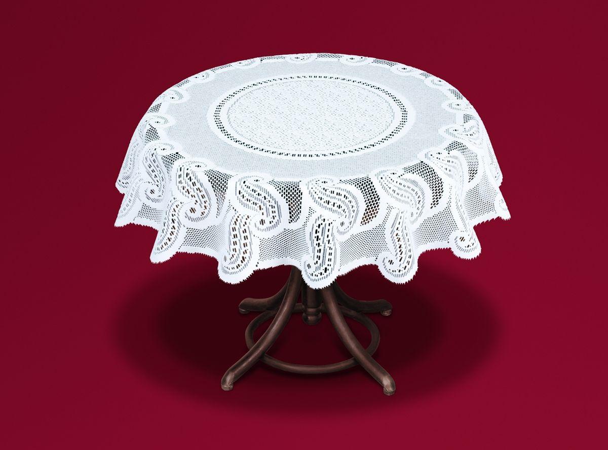 Скатерть Haft, цвет: белый, диаметр 120 см скатерть haft квадратная цвет ванильно оливковый 120 x 120 см 50912 100