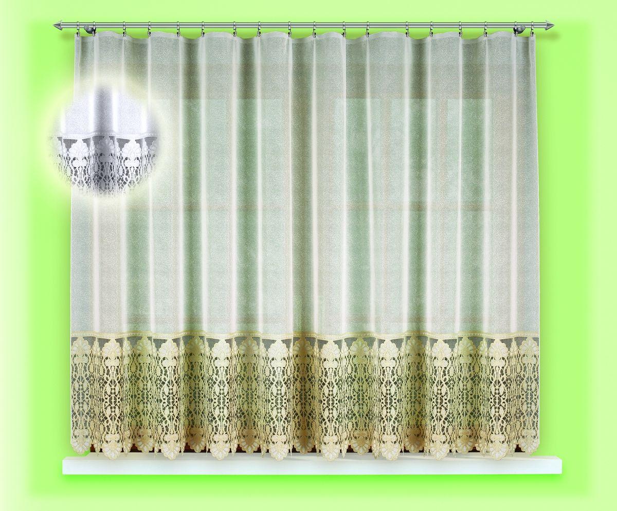Гардина для кухни Haft Magia Wzorow, на ленте, цвет: белый, высота 160 см. 54870/160 цена