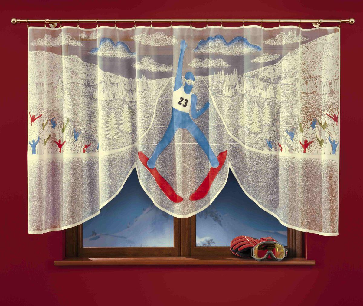 Гардина Wisan Skoczek, цвет: молочный, высота 150 см гардина wisan 040w