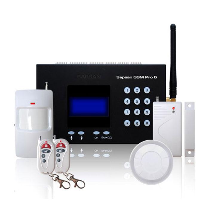 Sapsan GSM Pro 6 Умный дом GSM-сигнализация c датчиками сигнализация sapsan gsm pro 6 с датчиками 00006547