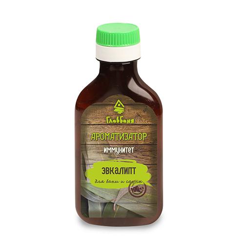 Ароматизатор для бани и сауны Иммунитет, 100 млБ122Ароматизатор для бани и сауны Иммунитет содержит терпкий эвкалипт. Эвкалипт обладает сильнейшими иммуностимулирующими свойствами, а также способствует облегчению симптомов простудных заболеваний. Сильный и насыщенны аромат эвкалипта придает чувство невероятной свежести и бодрости. Для этого необходимо 5-10 мл ароматизатора добавить в 1 литр воды, полить стены, полки в бане и сауне, поддать на камни. Он может стать великолепным подарком и прекрасным дополнением банного интерьера.