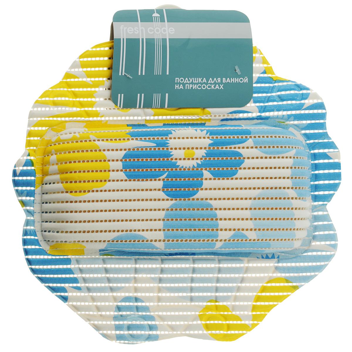 Подушка для ванны Fresh Code Flexy, на присосках, цвет в ассортименте, 33 х 33 см коврик для душевой кабины fresh code flexy на присосках цвет зеленый 52 см х 52 см