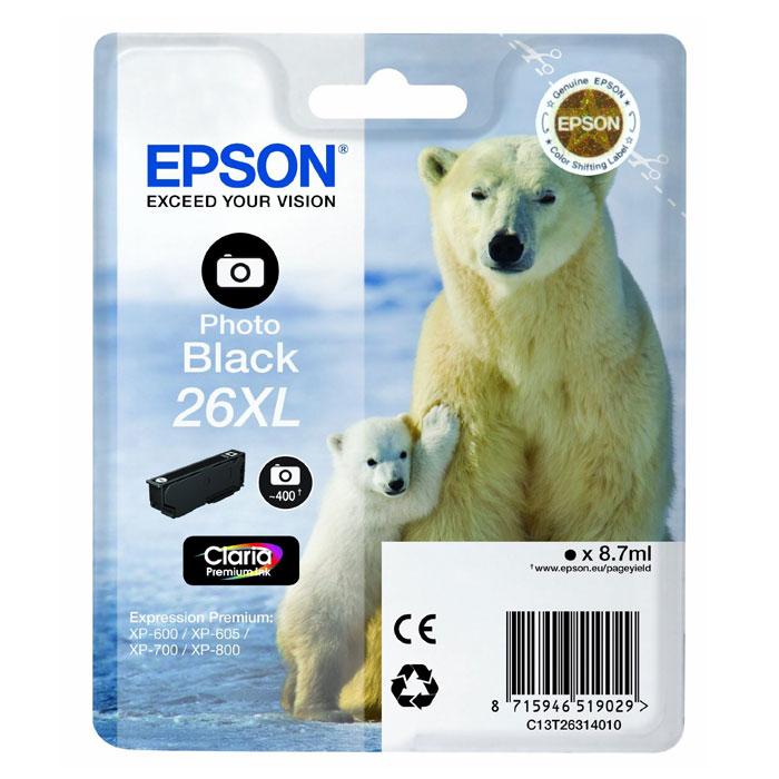 Картридж Epson 26XL (C13T26314012), черный фото цены
