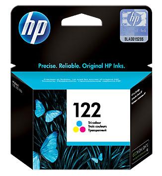 HP CH562HE (122), Tri-Color картридж для струйных принтеров картридж hp 122 ch562he tri colour для 1050 2050 2050s
