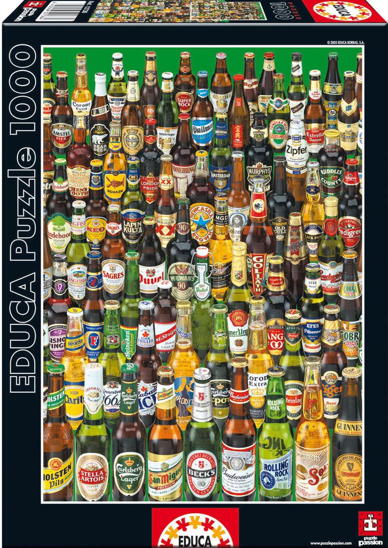 Коллекция бутылок пива. Пазл, 1000 элементов ludattica паззл с 3d фигурами ралли гран при