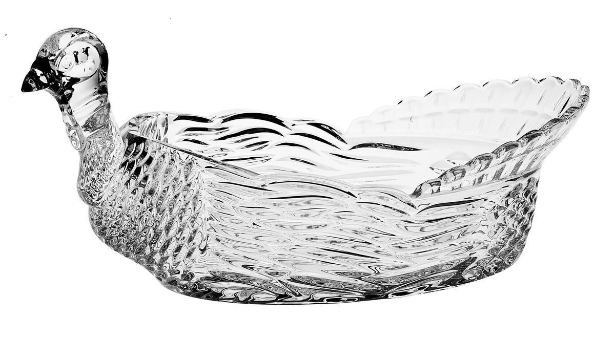 Доза-салатник Crystal Bohemia Тетерев, 31 см х 19 см х 15,5 см салатник crystal bohemia x lady 29 х 29 см