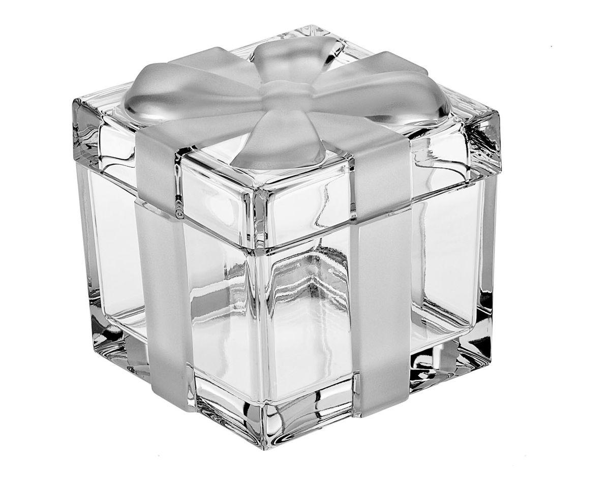 "Доза-шкатулка Crystal Bohemia ""Подарок"", 7 см х 7 см х 5,5 см"