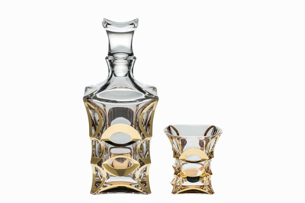 Набор для виски Crystal Bohemia X-Lady Gold, 7 предметов салатник crystal bohemia x lady 29 х 29 см